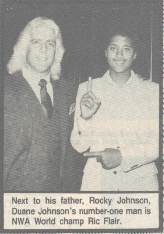 Ric Flair with the Rock