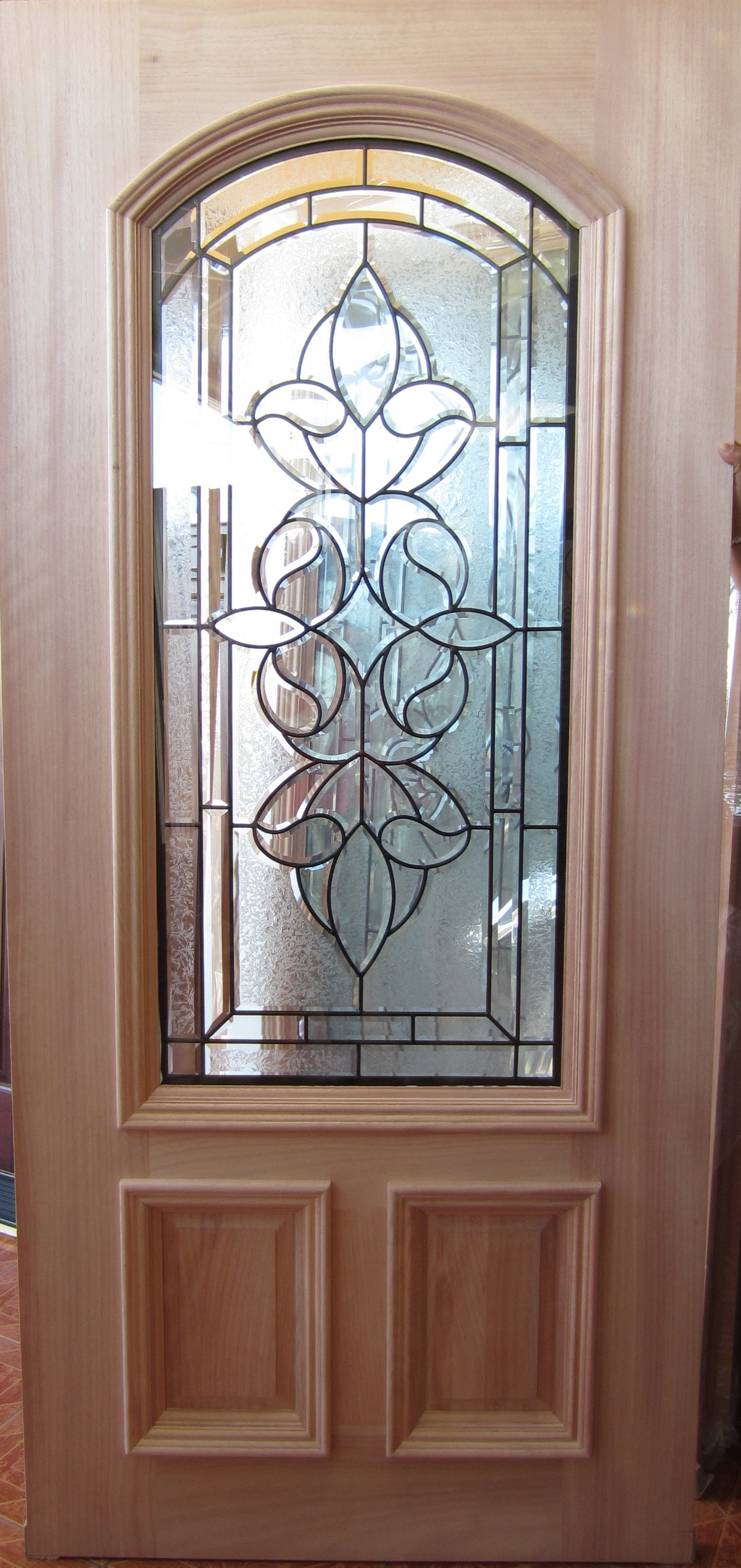 2 3 arch top mahogany wood door cheap grille doors houston door
