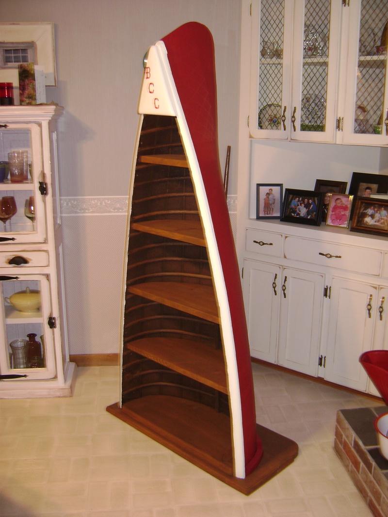 36P - Canoe Bookcase - Ruff-Stuff Woodworking