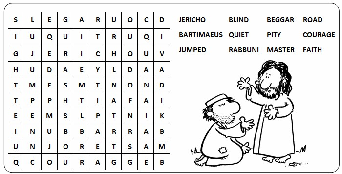 Wordsearch 30Bjpg – Corporal and Spiritual Works of Mercy Worksheet