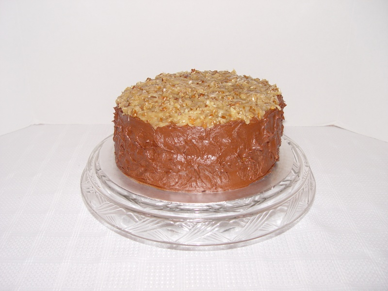 German Chocolate Cake With Caramel Filling