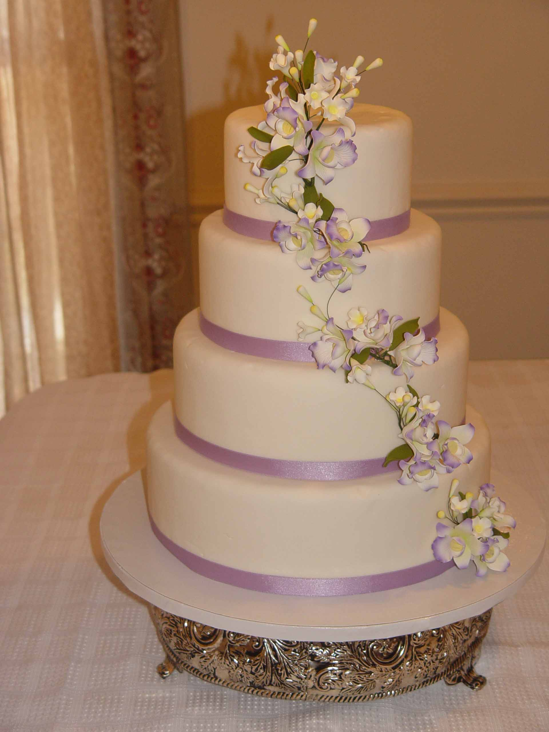 Lavender Orchids fondant Specialty Cakes and Desserts