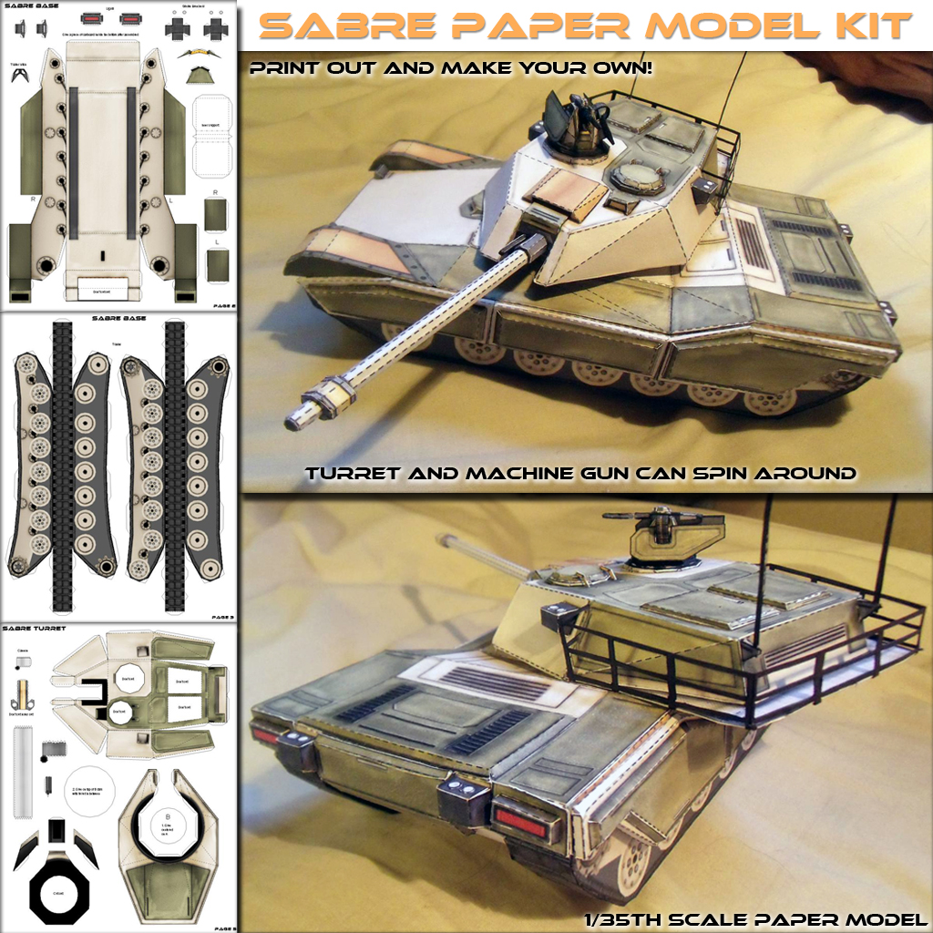 Sabre Mbt Papercraft Model Spyker Enterprise