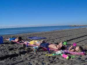 echarpe de portage de plage