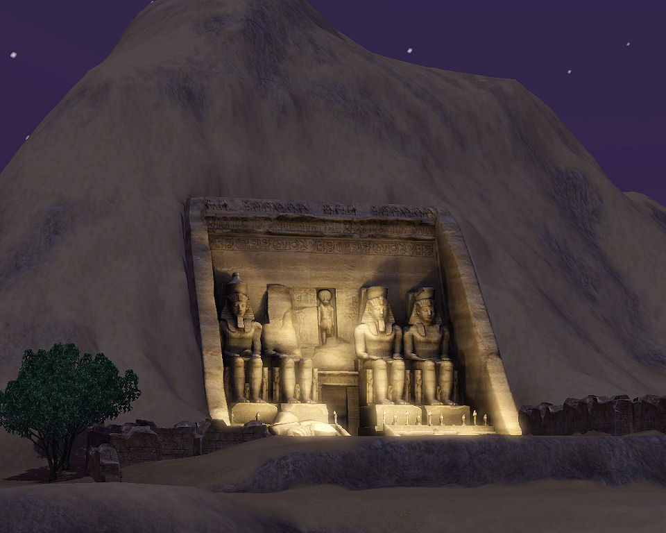 images and places pictures and info abu simbel sims 3. Black Bedroom Furniture Sets. Home Design Ideas