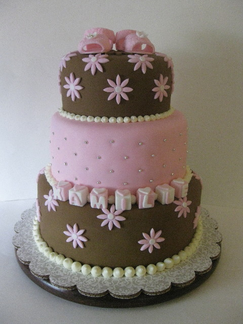 Baby Shower Cake Pictures For A Girl : It s a Girl - Baby Shower Cake