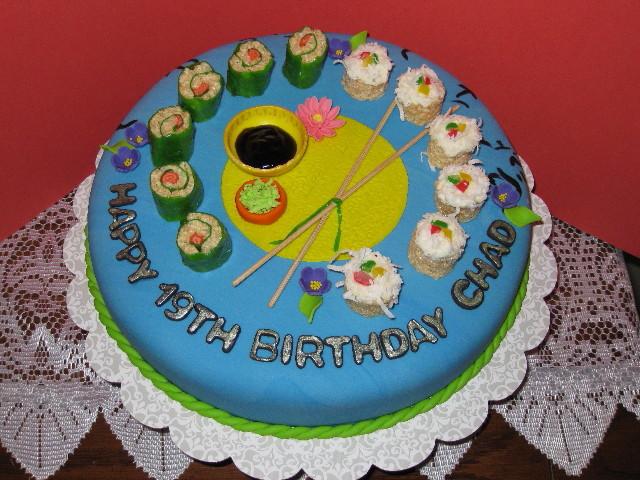 Chad s sushi birthday cake