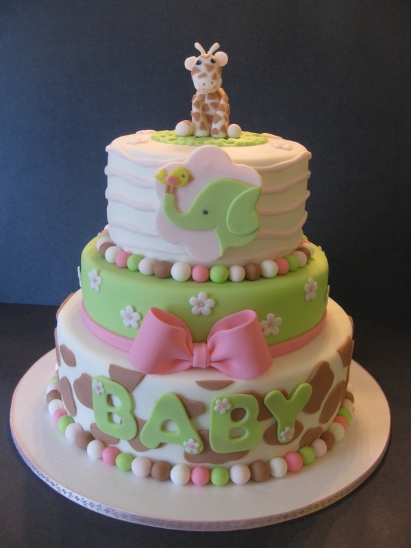 Baby Shower Giraffes Cake 600 x 800