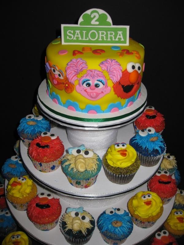 sesame street cupcakes cake
