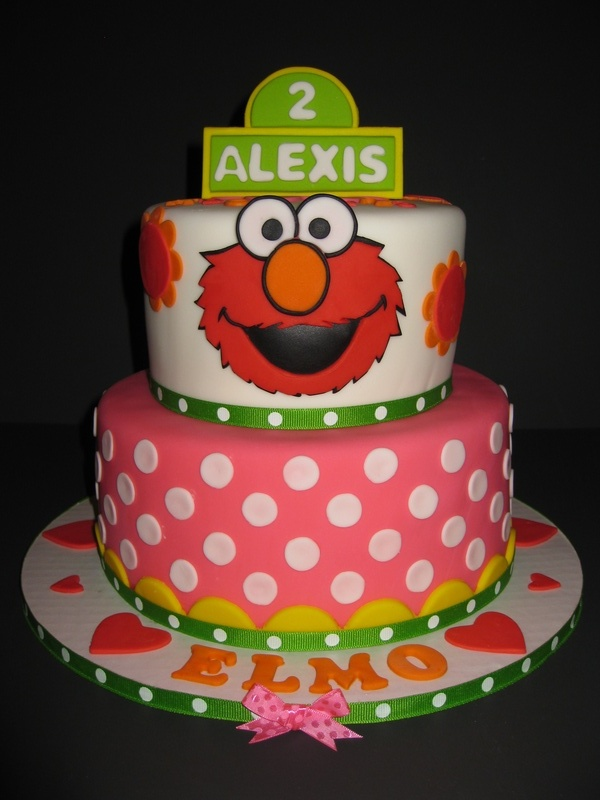 Cake Ideas For 2nd Birthday Girl : Lexi s Elmo 2nd Birthday Cake