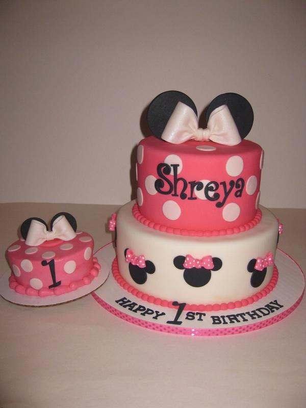 Shreya s Minnie Mouse 1st Birthday Cake & Smash Cake