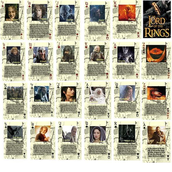 Amazon.com: Lord of the Rings Double Deck of Playing Cards ...