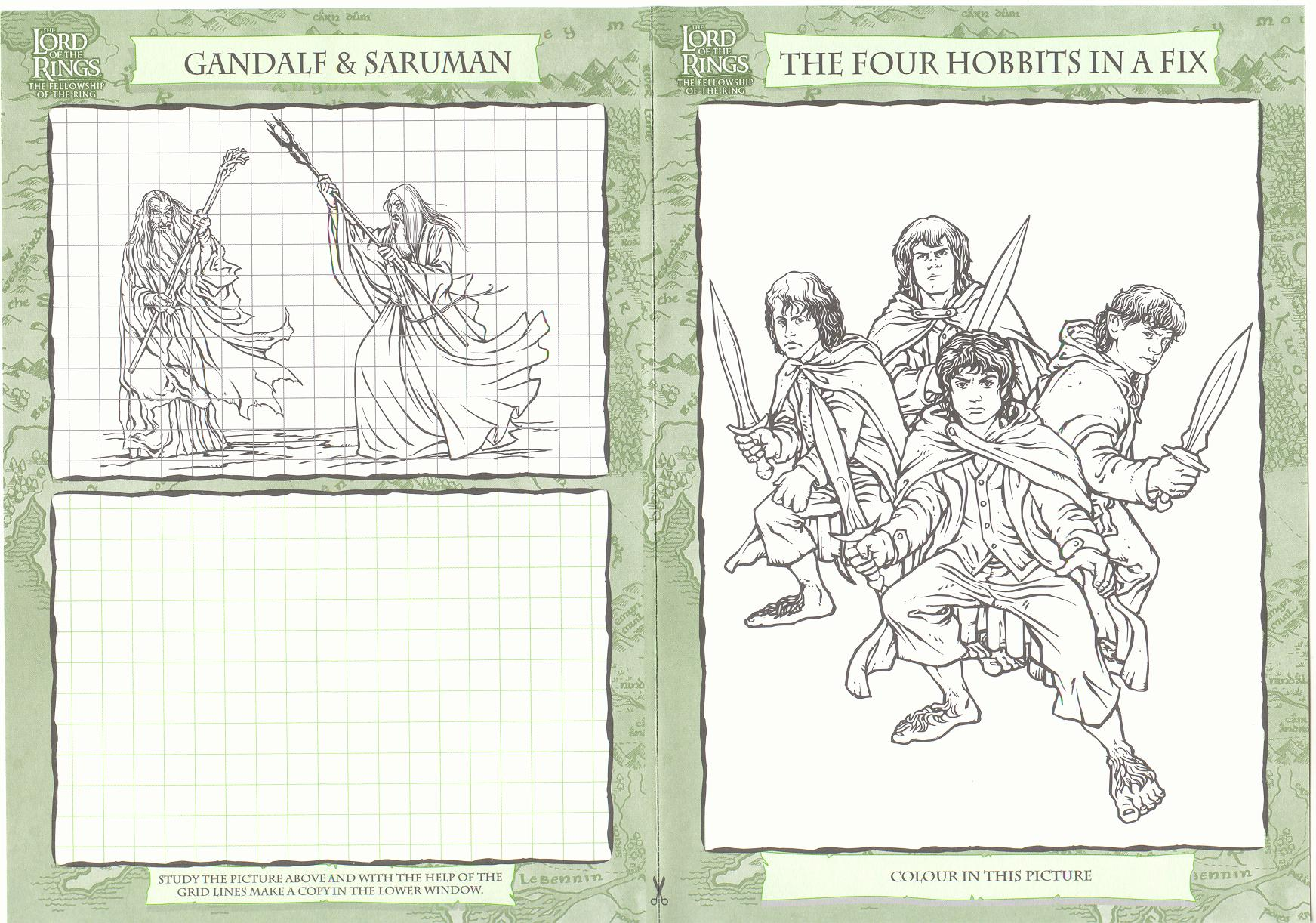 Poster For Lotr Coloring Pages