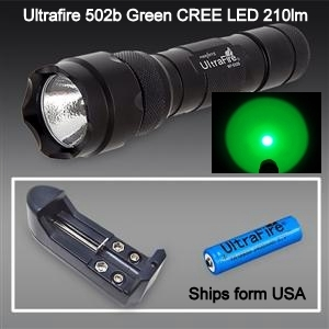 Green LED Scanning Flashlight