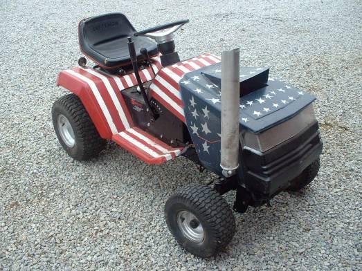 Custom Racing Tractors : Custom lawn mower tractor car interior design